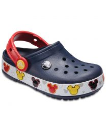Kid's Crocband Mickey Fun Lab Lights  Navy