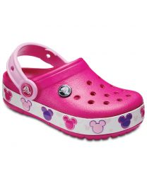 Kid's Crocband Mickey Fun Lab Lights Candy Pink