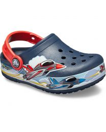 Kid's Crocs Fun Lab Jets Band Lights Clog K Navy