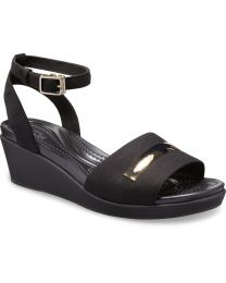 LeighAnn MetalBlock Ankle Wedge W Champaign/Black
